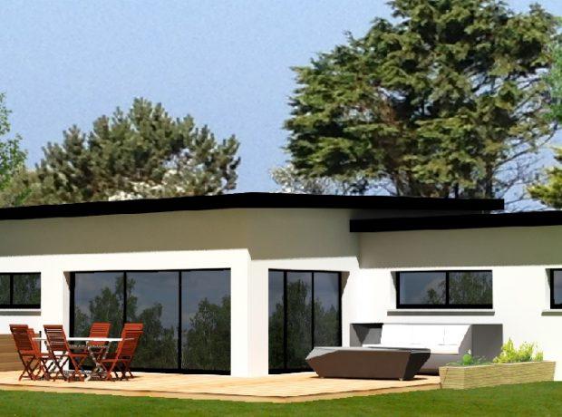 Originale : maison de plain pied contemporaine  de 142 m2 habitable