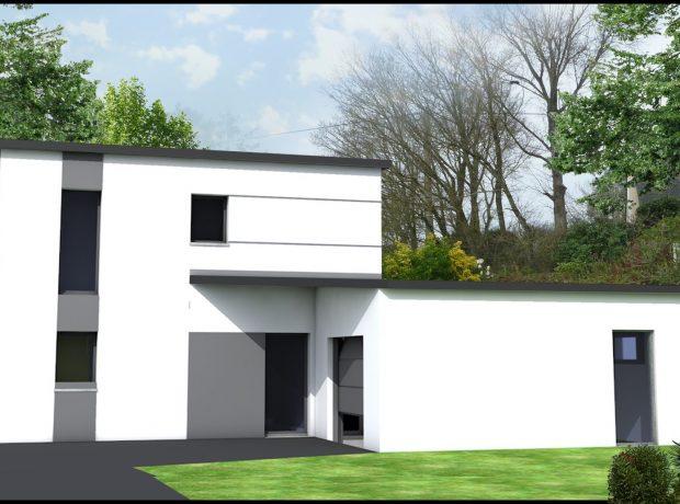 Originale :maison étage contemporaine  114 m2 habitable , garage 24 m2