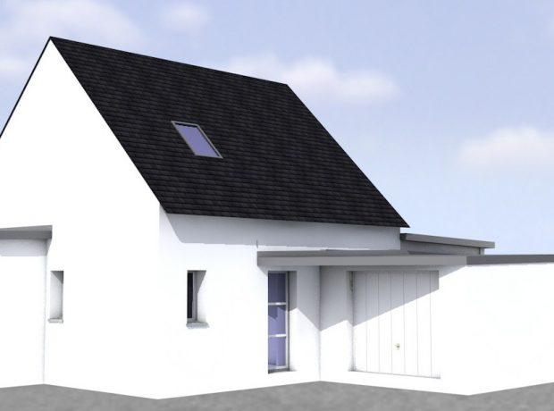 Original : maison étage mixte  100m² habitable et garage 23 m²
