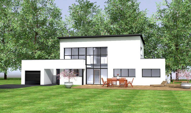 «architecte» maison  contemporaine 133 m² habitable averc garage  26m²